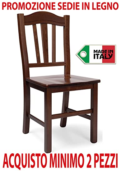 Ordine min. 2 pz sedia poltrona Silvana in legno massello noce ...