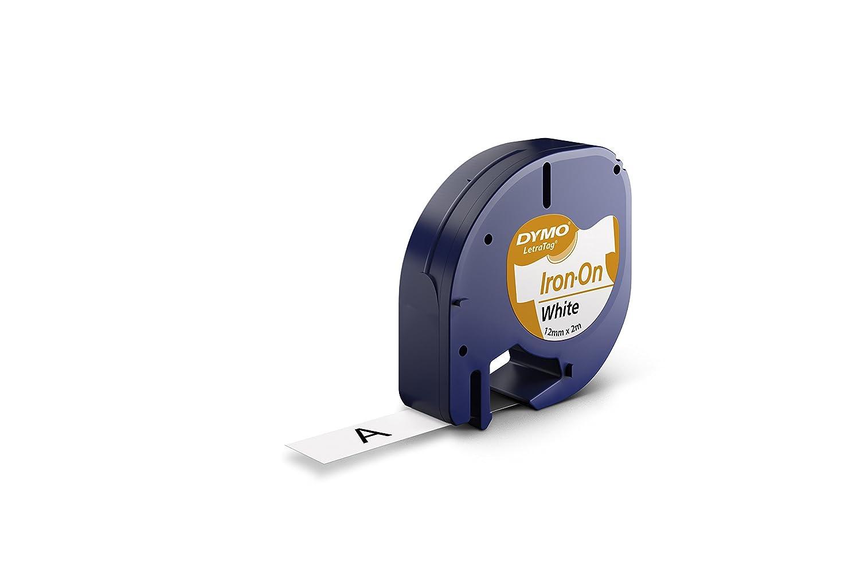 Dymo S0718840 - Cinta, 12 mm x 2 m, color negro y blanco: Amazon.es: Oficina y papelería