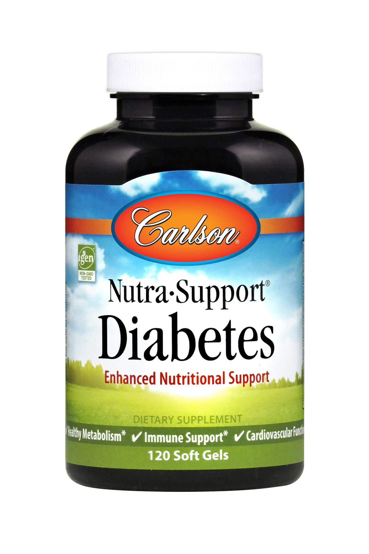 Carlson - Nutra-Support Diabetes, Enhanced Nutritional Support, Supports Special Dietary Needs, 60 Soft gels by Carlson