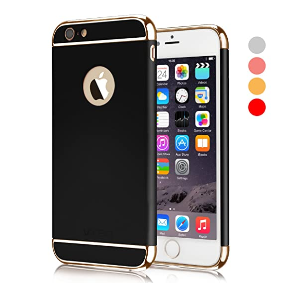 quality design b1d4a 1980d iPhone 6 Plus Case, VANSIN 3 in 1 Ultra Thin and Slim Hard Case Coated Non  Slip Matte Surface with Electroplate Frame for Apple iPhone 6 Plus and ...