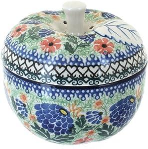 Blue Rose Polish Pottery Sofia Apple Baker