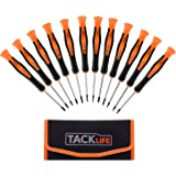 Precision Screwdriver Set, TACKLIFE 12Pcs Precision Repair Tool Kit, Philips, Slot, Torx Star, Magnetic Tips, for Phone/Watch