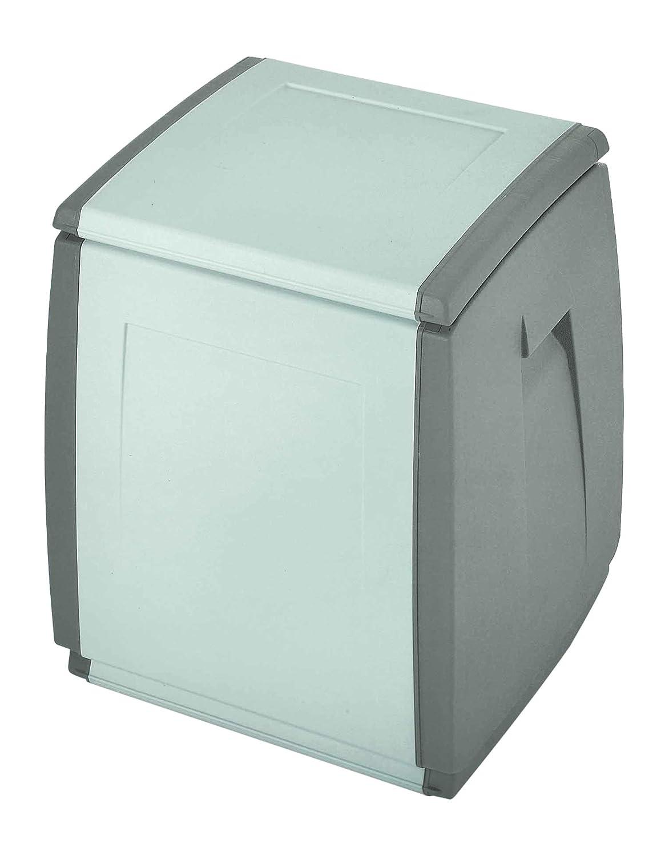 TERRY In & out Box 55 Baule in Plastica, Grigio/Tortora, 54 x 54 x 57 cm Terry Store-Age 1002731
