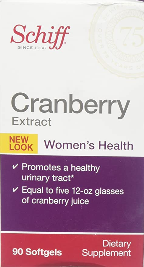 Schiff Cranberry Extract Dietary Supplement - Womens Health - Promotes a Healthy Urinary Tracy - 90