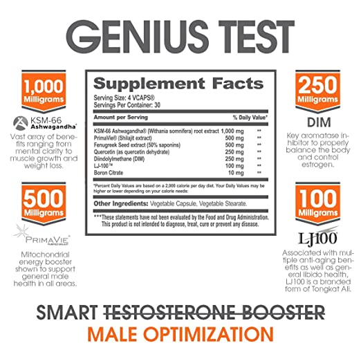 Amazoncom GENIUS TEST The Smart Testosterone Booster Dynamic - 38 test answers totally wrong 100 genius