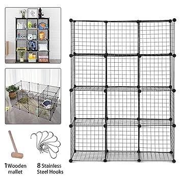 Unidad de almacenamiento de 12 cubos de rejilla de alambre - DIY ...
