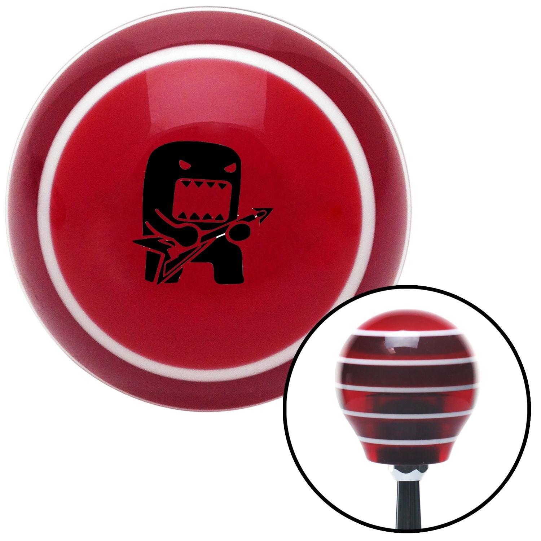American Shifter 112781 Red Stripe Shift Knob with M16 x 1.5 Insert Black Domo Jammin
