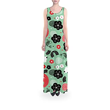 873a0efc2c Koi Carp Asian Fish Flared Maxi Dress at Amazon Women s Clothing store