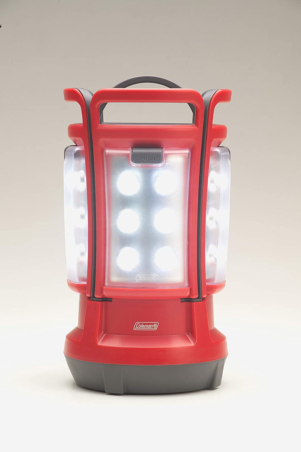 1. Coleman Quad LED Lantern Special Edition Ultra Bright 190 Lumens, Red