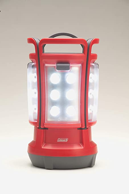Coleman Quad LED Lantern Special Edition Ultra Bright 190 Lumens, Red