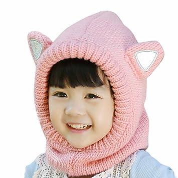 Happy Cherry Baby Ohrenwützer Mütze Kindermütze Kind Rosa Tier Ohren ...