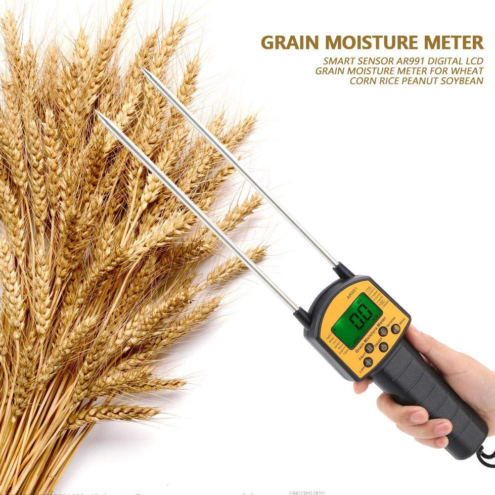 Integrated Grain Moisture Meter Digital LCD Grain Moisture Meter for Wheat Corn Rice Peanut Soybean
