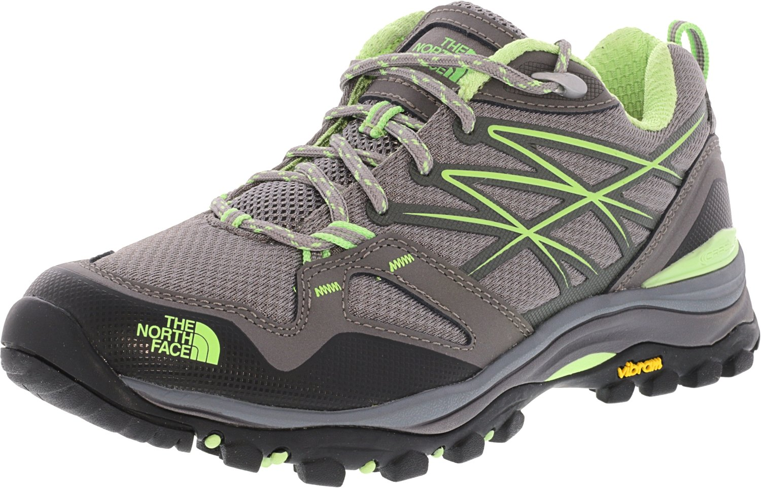 The North Face Women's Hedgehog Fastpack Hiking Shoe Grey/Paradise Green Size 8.5 M US