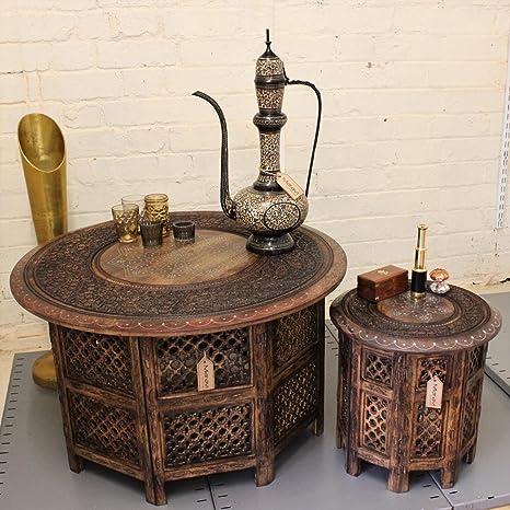 Maravi Set de 2 Grandes y pequeñas mesas incrustación de ...