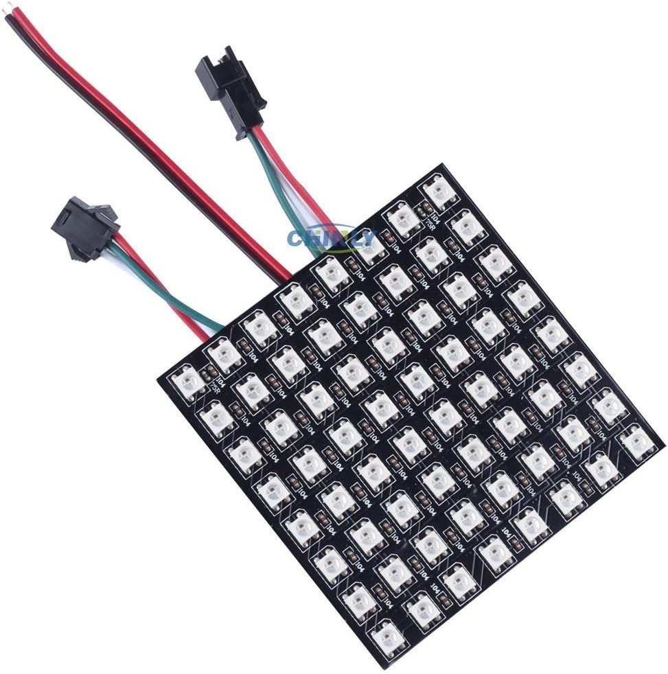 5V WS2812B RGB Led Digital Panel Matrix Display Screen 64//256 Pixels Light