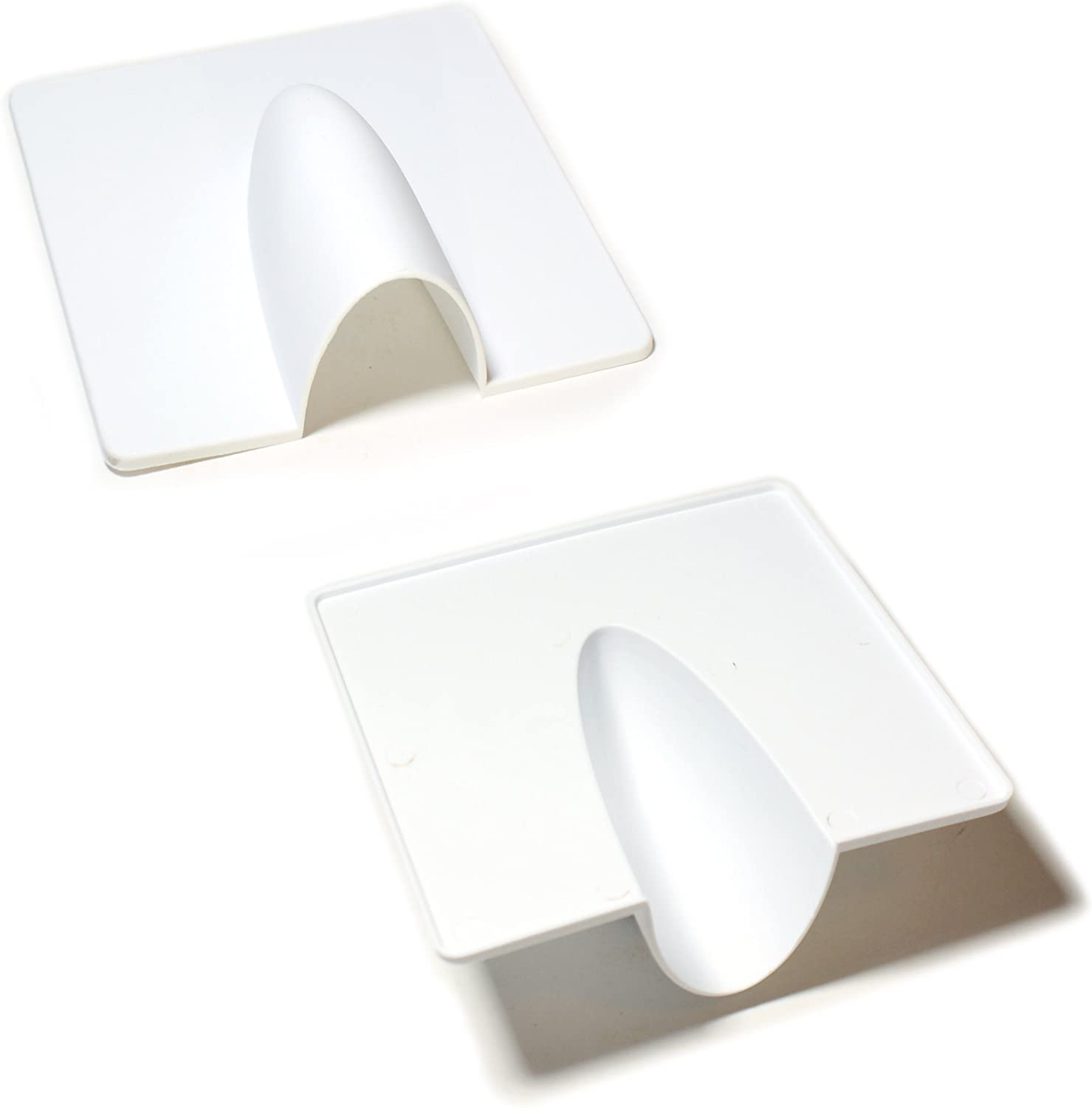 Outdoor White Brick Buster Plate Cable Wall Entry Tidy Cover for Cables