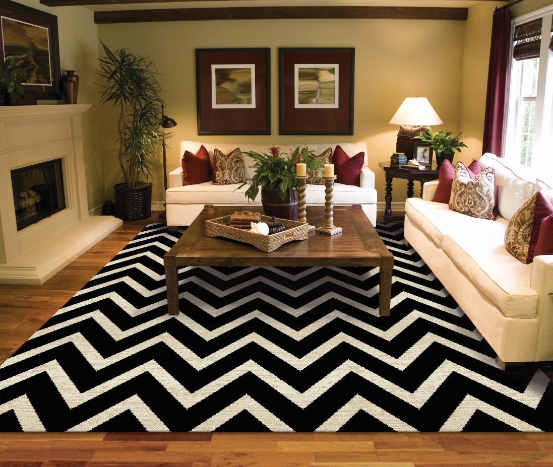 Large Rugs for Living Room 8x10 Cheveron Rugs Clearance Area Rugs 8x10 Under 100