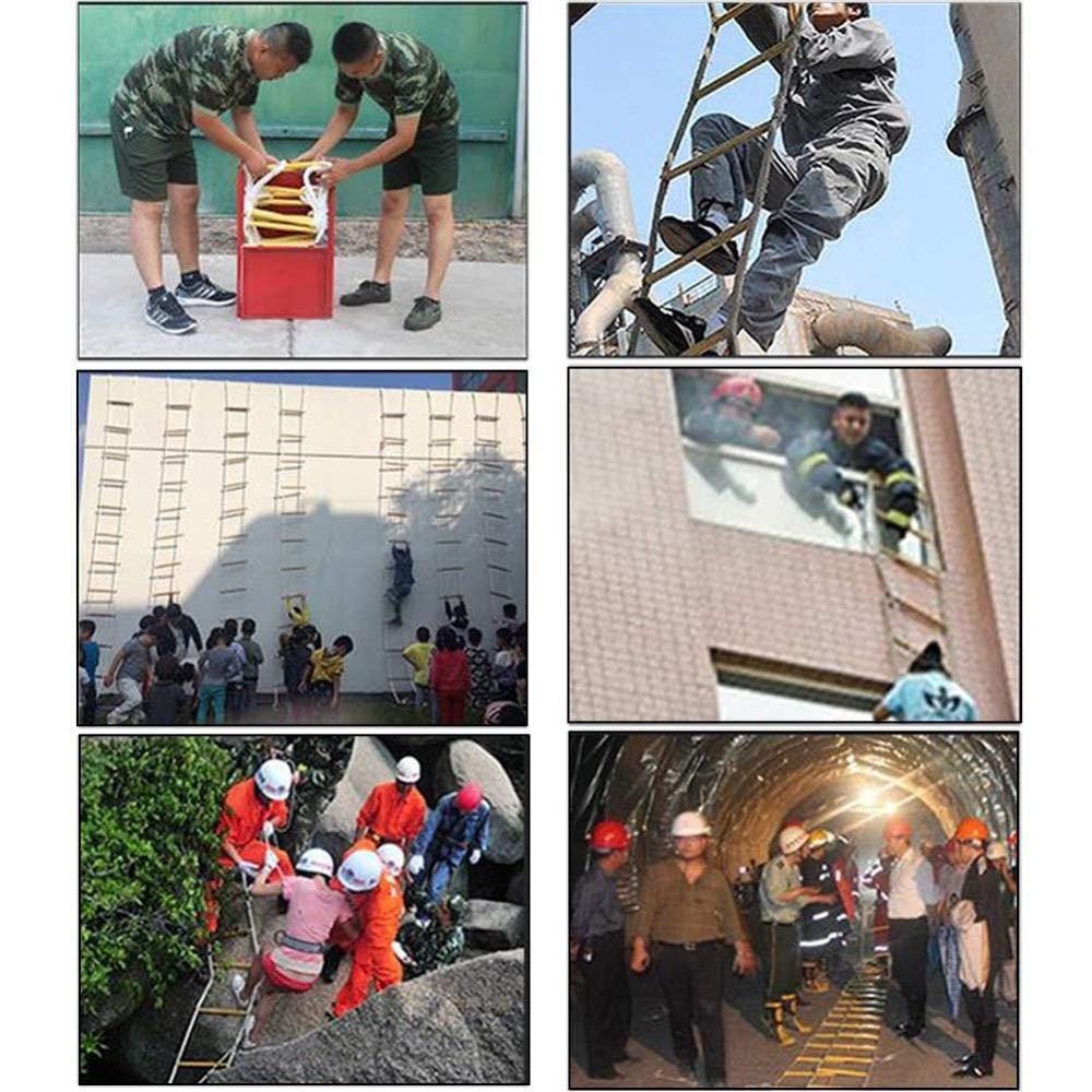 CVFDGETS Escalera Blanda Escalera De Seguridad para Subir La Cuerda De Seguridad Escalera Multifunci/ón De Nylon Suave Escalera De Ingenier/ía para Subir Escalera De Emergencia,10M