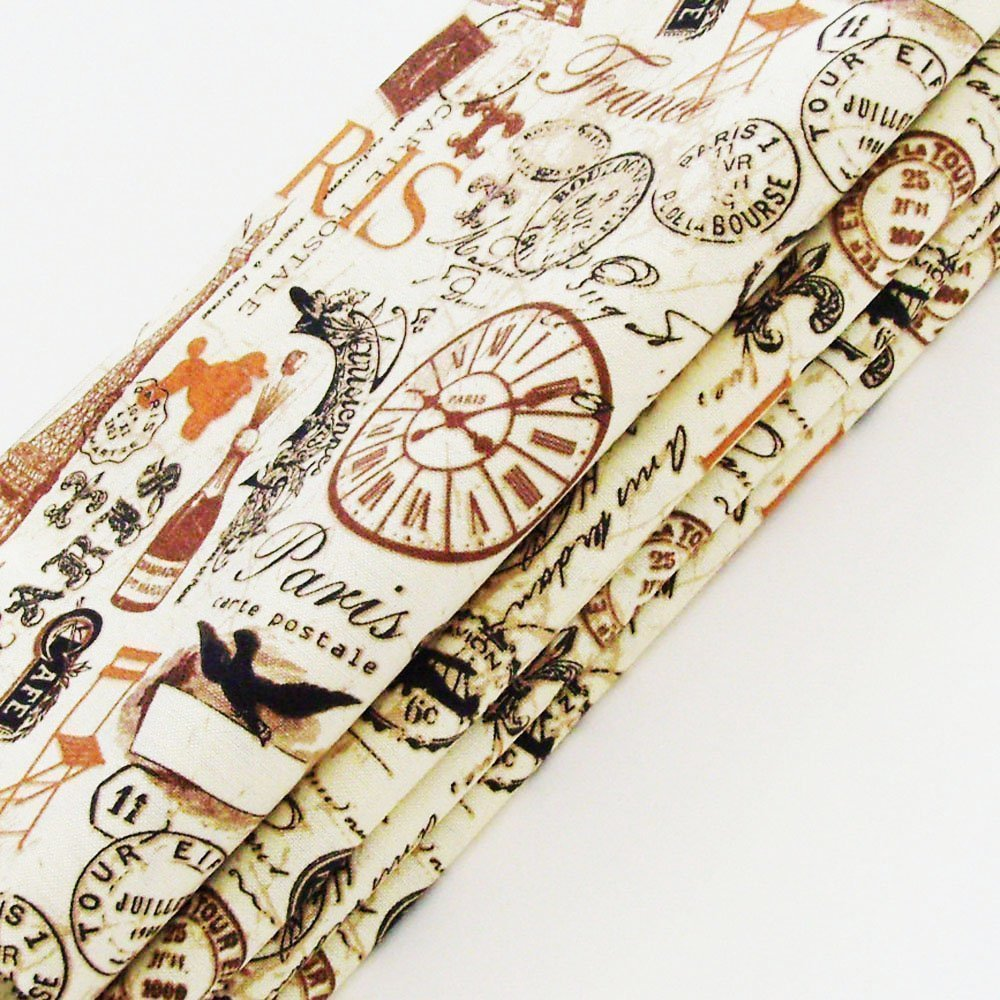 Vintage Era Paris Cotton Napkins (Set of 4) ME2Designs Handmade Table Decor