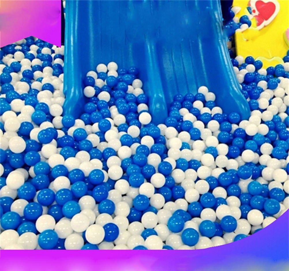 dengguoli 100個ホワイトブルー2.7インチ7 cmオーシャンボールソフトプラスチックBPAフリーair-filled Funny Toy for Baby Kid Swim   B073NXVRVS
