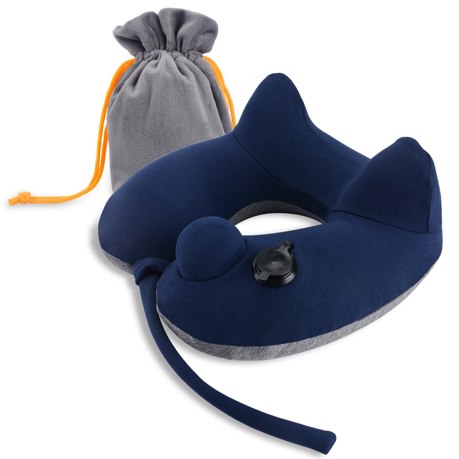 VARANO [Sale] Inflatable U-shaped Neck Pillow by, Ergonomic Travel Pillow with 3D hump Modeling Design for Better Neck Support, Effectively Relieving Neck Fatigue