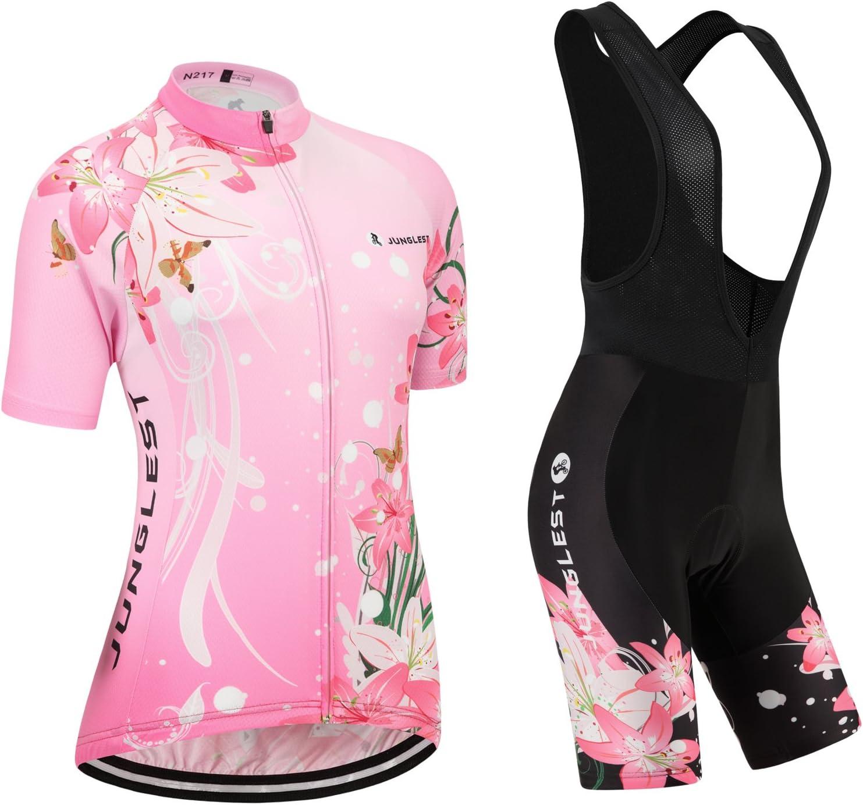 Shorts Set Pink Women Bike Cycling Clothing Bicycle Short Sleeve Jersey