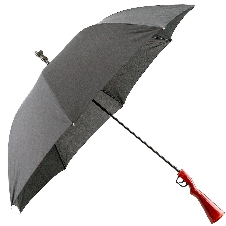 Regenschirm ' Gewehr ' - schwarz - Automatik - Schirm - Stockschirm fü r - Damen Herren Erwachsene - Partnerschirm - Automatikschirm Polizei - Jagdgewehr - Jä ger Wanted