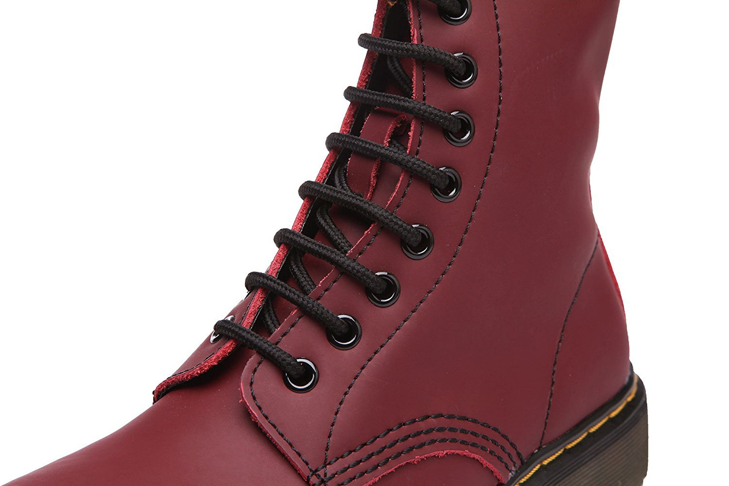 Modemoven Women's Round Toe Lase-up Ankle Boots Fashion Ladies Leather Combat Booties Fashion Boots Martens Boots B06XNNQJCG 6.5 B(M) US|Cherry Red 4c2538