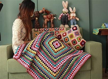 Desconocido Manta de Punto de Lana para sofá, diseño de ...