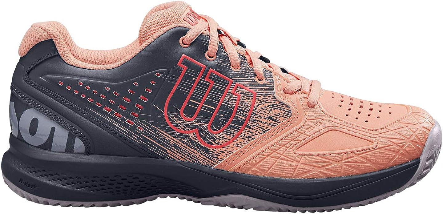 Wilson Kaos Comp 2.0 W, Zapatilla de Tenis, para Todo Tipo de Terreno, Tenistas de Cualquier Nivel para Mujer, Rojo/Negro, 41 1/3 EU: Amazon.es: Zapatos y complementos