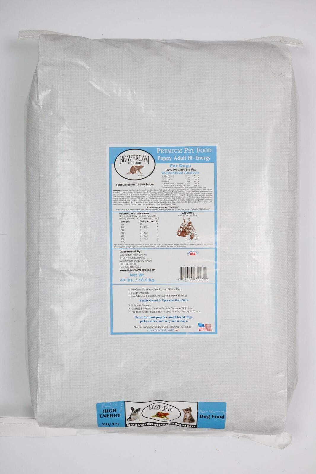 Beaverdam Pet Food, Inc. High Energy Puppy/Adult 40 lb by Beaverdam Pet Food, Inc.