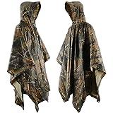 Boonor Rain Poncho Schutz Erwachsener Regenponcho wasserdicht Compact Standard Größe mit Kapuze Vinyl Jacket Regenjacke für Camping Cape Outdoor