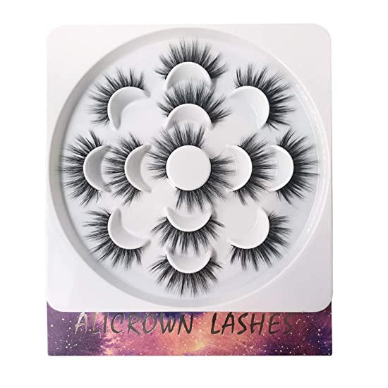 False Eyelashes 3D Lashes Pack Fur Long Lashes Reusable Soft Fake Eyelashes 7 Pairs