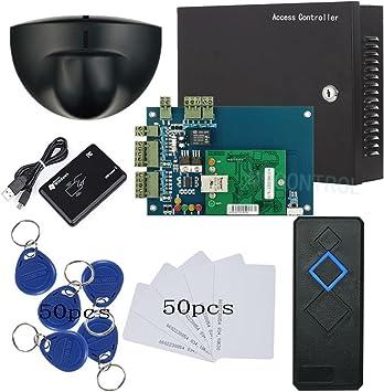 tcpip única salida para sistema de panel de control de acceso de seguridad para puerta Sensor de movimiento Enroll RFID lector USB 230 V Potencia caja RFID lector RFID llavero/tarjetas: Amazon.es: Bricolaje