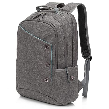 888cc665d56f KINGSLONG Laptop Backpack for Men and Women, 15.6 Inch Unique Button Style  Slim and Stylish Computer Bag Shockproof Large Capacity College School ...