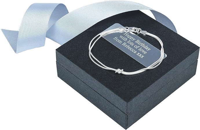 Plata de la pulsera del nudo de corbata: Amazon.es: Hogar
