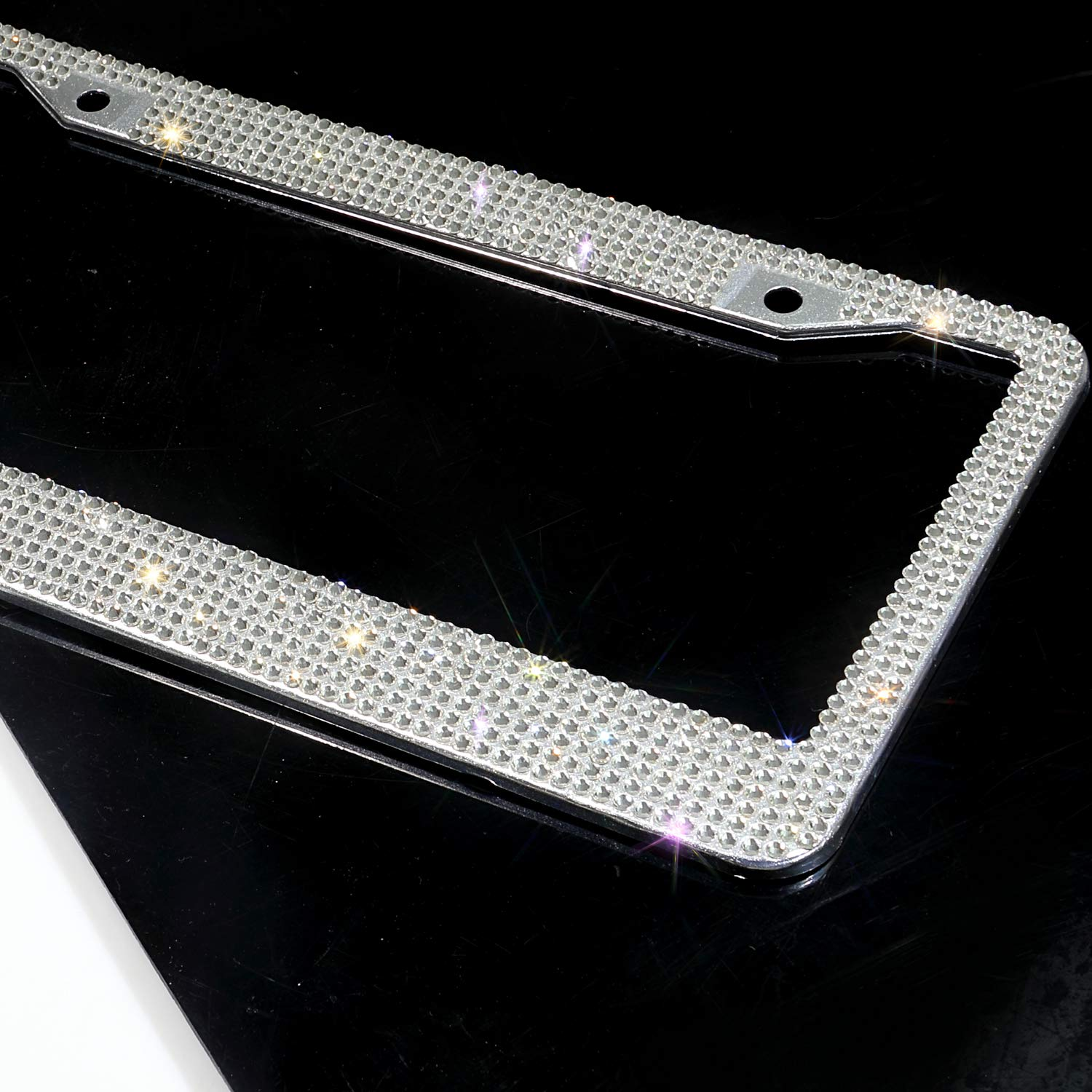 Handmade Luxury AAA Grade Clear Crystal Rhinestone Premium Car//Truck//SUV License Plate Frame Cover Cute Bling License Plate Holder 1000 1 Frame pcs Finest 14 Facets SS20 Glass Clear Crystal