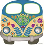Oedim Photocall Hippy 1,51x1,57m | Photocall Furgoneta Hippie para Decoracion de Fiestas, Eventos, Cumpleaños. | Photocall Elegante y Resistente