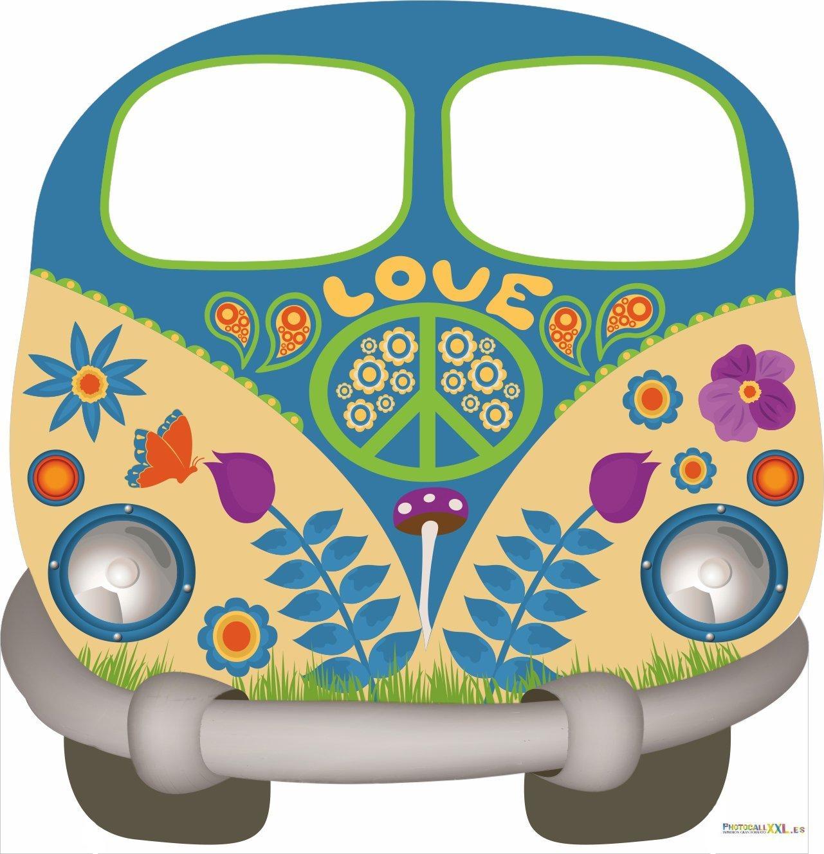 Eventos | Photocall Elegante y Resistente Cumplea/ños Photocall Furgoneta Hippie para Decoracion de Fiestas Oedim Photocall Hippy 1,51x1,57m
