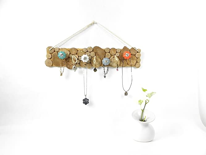 Porte bijoux design en bois de fabrication artisanale muni