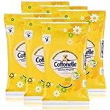 6x Cottonelle feuchte Toilettentücher Kamille & Aloe Vera 12 Tücher für unterwegs