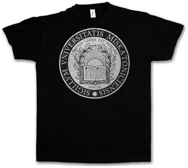 Lovecraft Arkham Horror Wars Miskatonic T-Shirt CIRCLE LOGO CTHULHU T-SHIRT