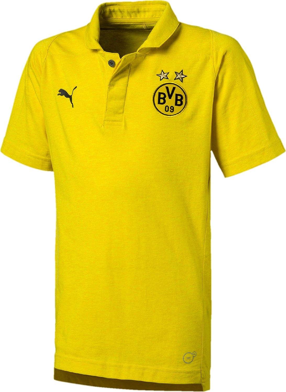 Puma Borussia Dortmund BVB Casual Polo Amarillo Infantil, Cyber ...