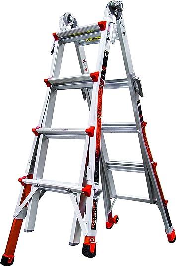 Little Giant Ladder Systems 12017-801 Revolution M17 - Escalera con niveladores de trinquete: Amazon.es: Bricolaje y herramientas