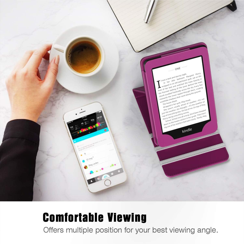 Housse en Cuir PU Multi-Angle Verticale avec R/éveil//Veille Automatique pour  Kindle Paperwhite 2018 E-Reader- Or Rose TiMOVO Coque pour Kindle Paperwhite 10/ème g/én/ération, mod/èle 2018