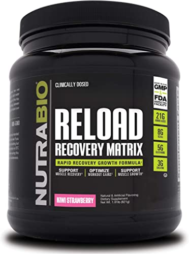 NutraBio Reload Post Workout Recovery 30 Servings, Kiwi Strawberry