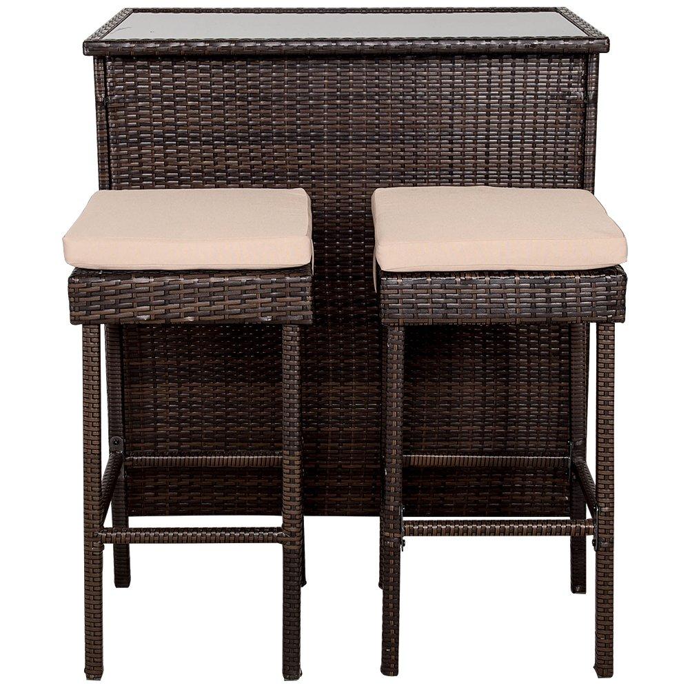100 patio bar table set bar height patio sets wayfair
