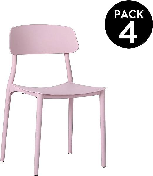 Adec - Carla, Pack de 4 sillas, sillas de Comedor Salon o ...