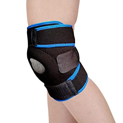 8253f8318d2 DreamPalace India Knee Support Adjustable Knee Support Supports Knee Cap  Knee Brace (Blue)  Amazon.in  Sports
