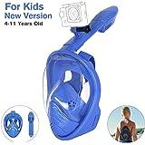 Unigear Masque de Plongée, Masque Snorkeling Plein Visage 180° Visible, Antibuée Anti-Fuite sous-Marine, Snorkel Masque avec la Support pour Caméra de Sport, Adapté pour Adulte et Enfant